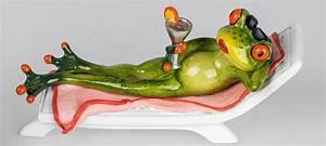 Frosch Als Haustier : einrichten24 eine gute entscheidung dekofigur lustiger frosch als urlauber auf liege mit ~ Buech-reservation.com Haus und Dekorationen