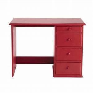Bureau Enfant En Bois : bureau enfant en bois rouge l 105 cm coccinelle maisons ~ Teatrodelosmanantiales.com Idées de Décoration
