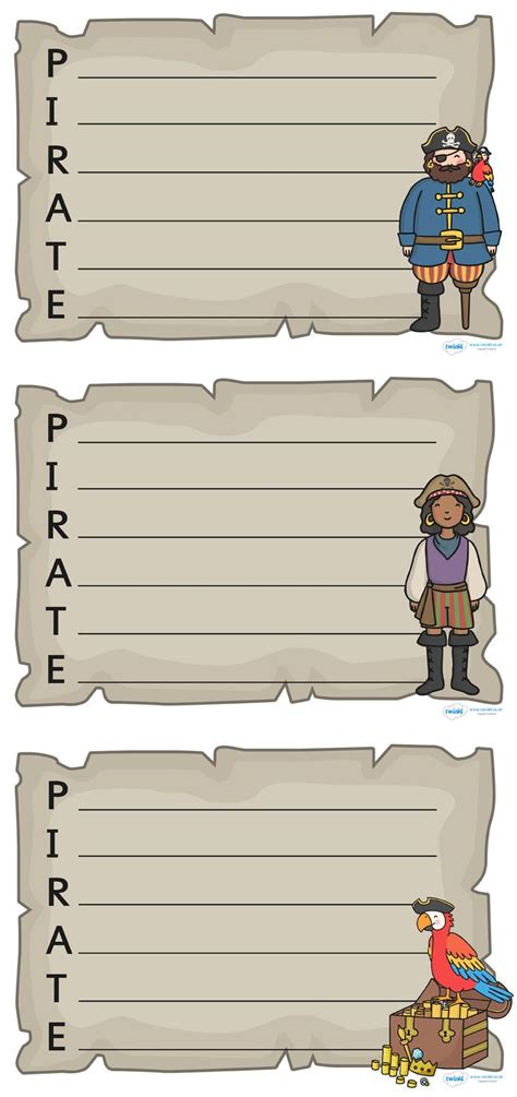 twinkl resources pirate acrostic poem templates