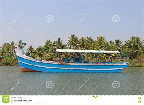 Fishing Boat In Kerala by Fishing Boat Kerala Backwaters Stock Photo Image 74589276