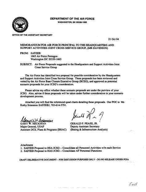 air mfr template memo on air proposals to realign and civilian personnel functions page 2 of 4
