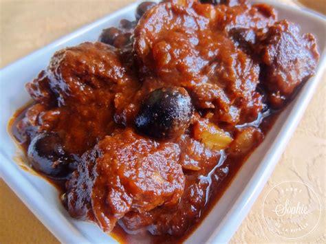 cuisiner du boeuf boeuf confit aux olives la tendresse en cuisine