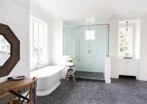 farmhouse bathroom floor master bathrooms hgtv Modern