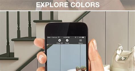 the project color app by the home depot allows you to try