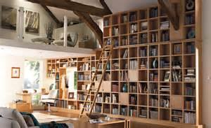 Wood Ladder Bookshelf Plans by 50 Stylish Home Library Designs Furnish Burnish
