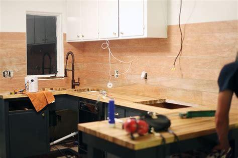 inexpensive plank backsplash plywood