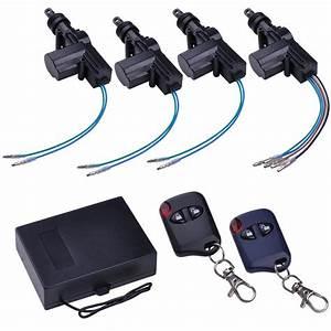 Universal 4 Door Car Central Power Door Lock   Unlock Remote Kit 2 Keyless Entry 637509402136