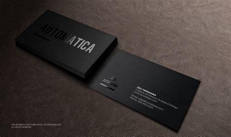 black business card template   design