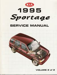 manual repair autos 1996 kia sportage parking system 1995 kia sportage factory service manual 2 volume set