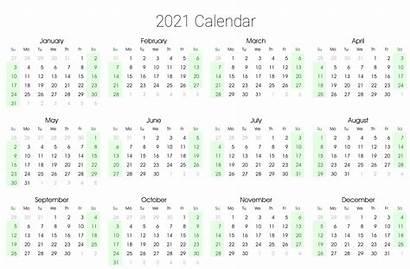 Calendar 2021 Printable Yearly Template Excel Editable