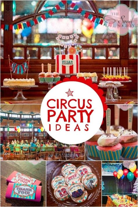 vintage circus themed boy  birthday party spaceships
