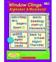 1000 images about from the scholastic teacher store on With window cling letters and numbers