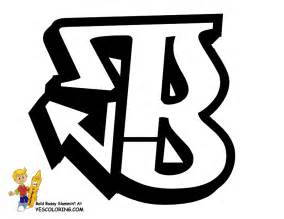 Graffiti Letter B Coloring Pages