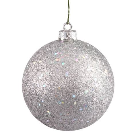 vickerman 35283 silver colored christmas tree ball ornament