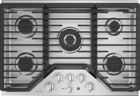 pgpslss ge profile  gas cooktop  burners  btu tri ring burner