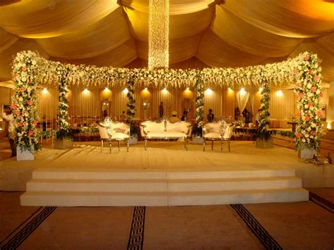 Wedding Stage Decoration With Lights Pakistani Functions