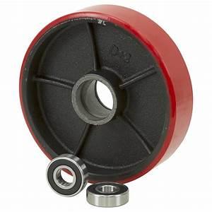8x2 Polyurethane On Cast Iron Pallet Jack Wheel