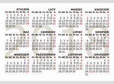 Kalendaria 2018 do druku, trójdzielne, plakatowe