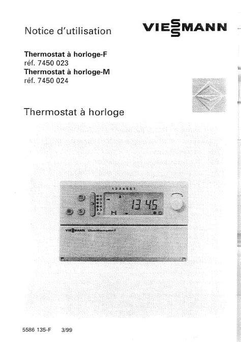 mode d emploi viessmann thermostat f chaudi 232 re trouver