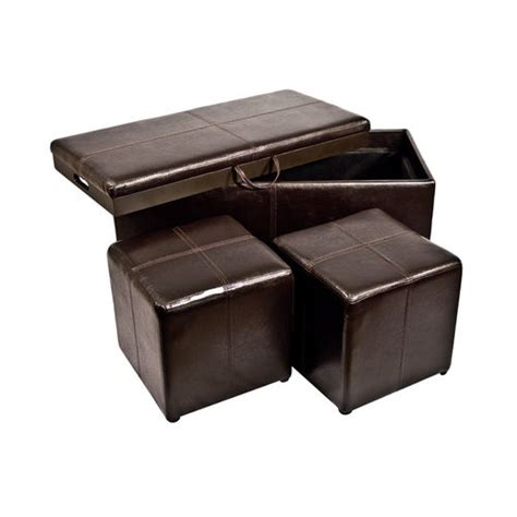 cube ottoman with tray storage ottoman bench with 2 seat cubes tray cover buy now