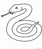 Snake Coloring Pages Printable Serpent Coloriage Mamba Cobra Snakes Realistic Dessiner Garter Sea Animals Drawings Simple Line Dessin Clipart Thedrawbot sketch template