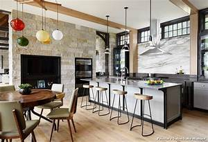 Peinture salon salle manger with contemporain cuisine for Idee deco cuisine avec meuble salle a manger contemporain
