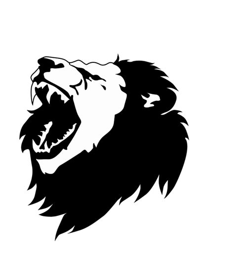 black  white lion head  vector graphic  pixabay