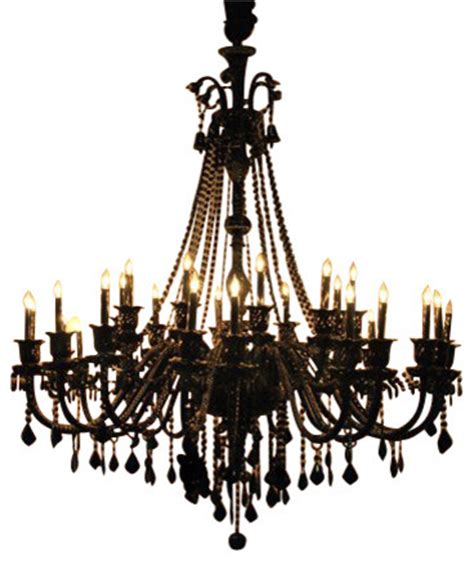 jet black chandelier with 30 lights traditional