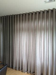 curtain  wood hiding track media room home