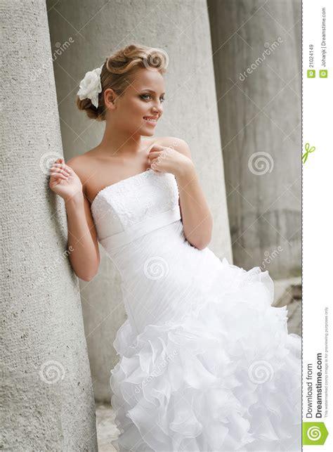 beautiful bride  white dress stock image image