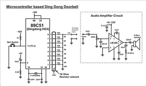 Microcontroller Based Ding Dong Bell Circuit Diagram Diy