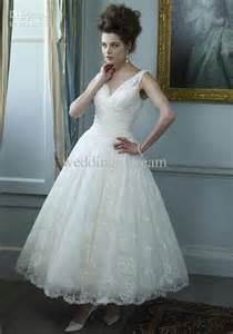 mid length dress for wedding summer v neck lace sheer straps a line mid length sleeveless lace pleat new wedding dress gown