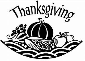 Black And White Christian Thanksgiving Clipart - ClipartXtras