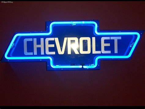Chevrolet Neon Sign by Miscellaneous Neon Chevy Sign Picture Nr 25393