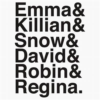 Robin Regina Ouat Killian Emma Snow David