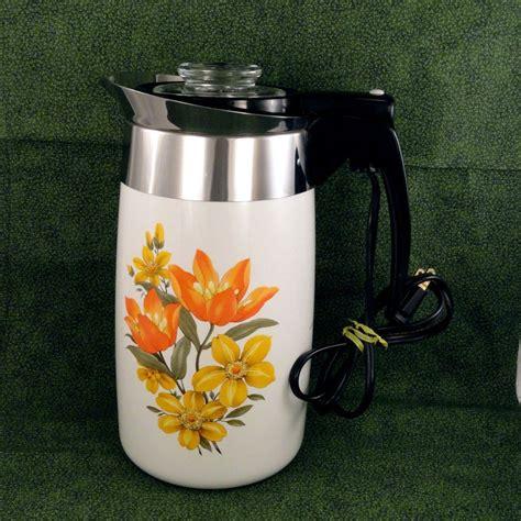 Percolators & moka pots & turkish coffee pots. Rare Vintage 1972 Corning Ware Tropic Summer 10-Cup ...