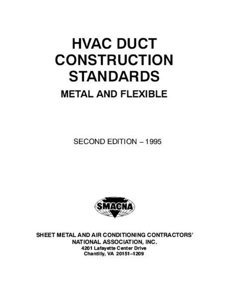 FREE ENGINEERING BOOK: HVAC DUCT CONSTRUCTION STANDARDS