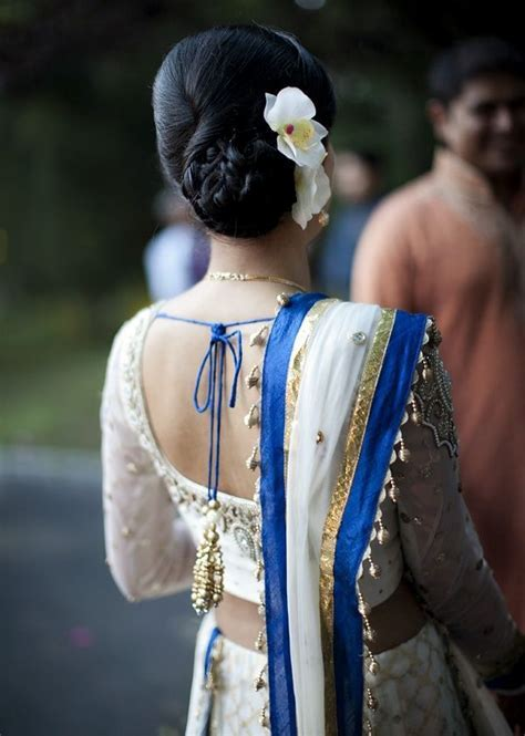 Indian Bun Hairstyles For Long Hair On Engagement