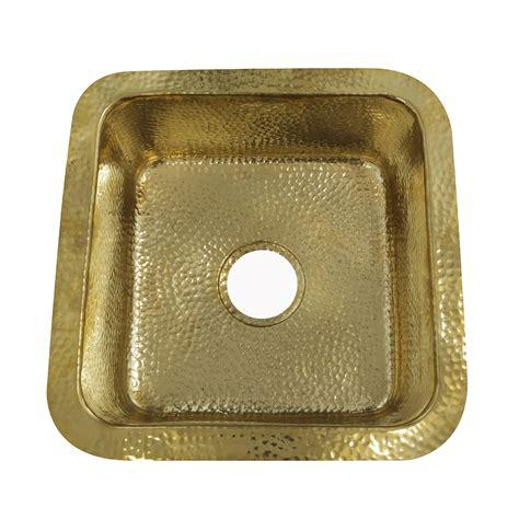 brass bar sink undermount sqrb 7 16 625 inch hammered brass square undermount bar sink