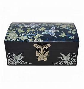 Boite A Bijoux Originale : petite coffret bijoux bleu artisanat cor en de nacre ~ Teatrodelosmanantiales.com Idées de Décoration