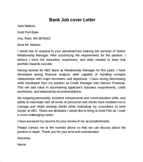 cover letter   job   bank