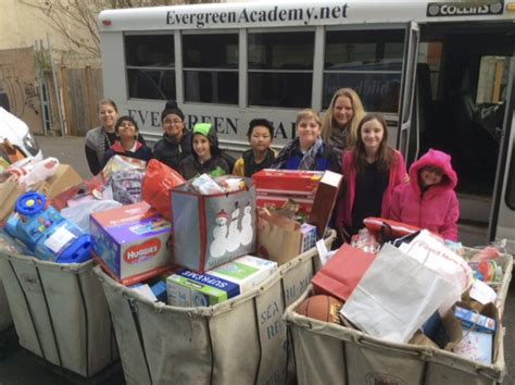 evergreen academy preschool evergreen academy students donate gifts to childhaven 914