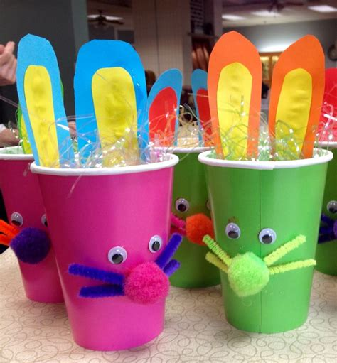 easter bunny cup craft  nursing home activities