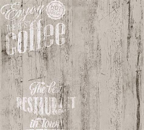 Fliesen Holzoptik Mit Schrift by Wallpaper Vintage Coffee Grey As Creation 33481 4