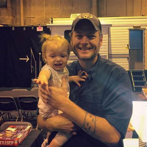 blake shelton daughter christina aguilera s daughter does not look thrilled to