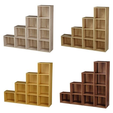 Bookcase Shelving Unit by 1 2 3 4 Tier Wooden Bookcase Shelving Display Storage Wood