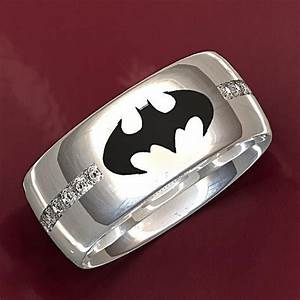 handmade batman wedding ring by valeria fine jewelry With batman wedding rings for her