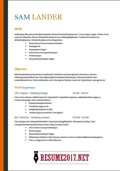 Resume Format In Word by Resume Format 2018 16 Templates In Word