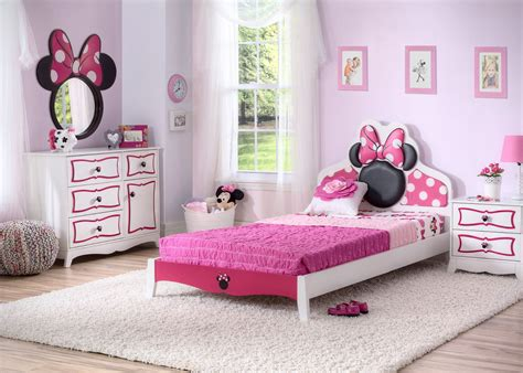 minnie mouse wooden twin bedroom collection minnie mouse