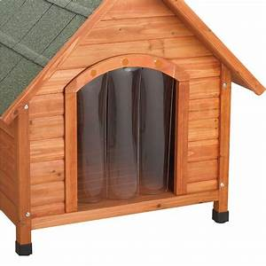 premium large door flap for dog house 01742 the home depot With wood dog houses home depot